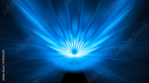 Blue glowing asteroid impact background with motion blur 8k Canvas