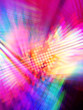 canvas print picture - colorful disco background