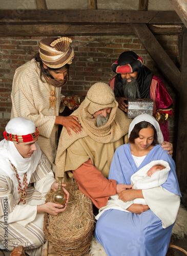 Foto Wisemen christmas scene