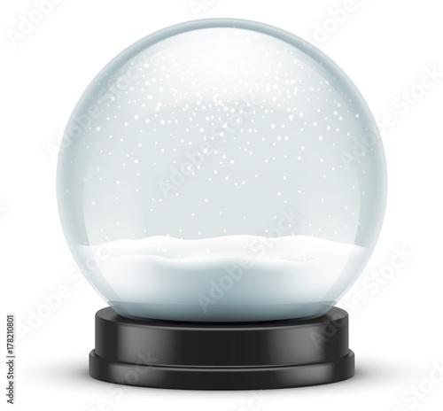 Cuadros en Lienzo Boule à neige vectorielle 3