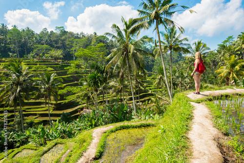 Foto op Plexiglas Indonesië Rice terraces in Tagallalang - Bali, Indonesia.