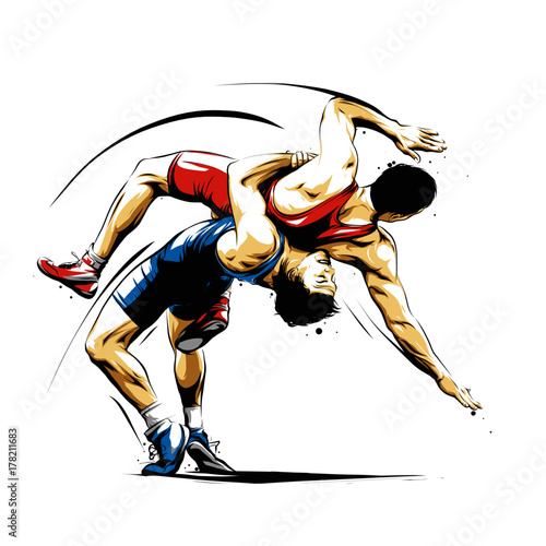Obraz wrestling action 3 - fototapety do salonu
