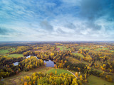 Autumn day in latvian countryside.
