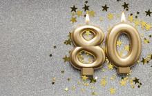 Number 80 Gold Celebration Can...