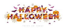 Halloween Typography Design Wi...