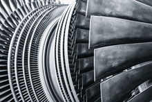 Steam Turbine Metal Blade Use In Power Station Or Jet Engine