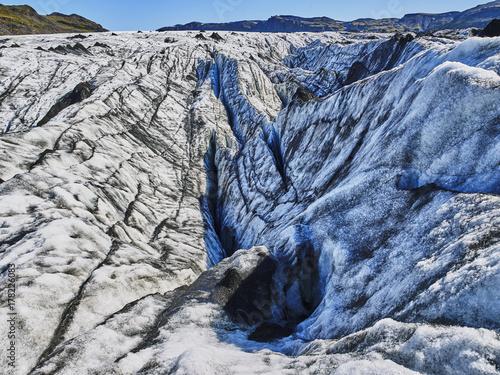 Plakat topnienie lodowiec w lecie Islandii