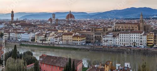 Plakat Widok Florencja, Włochy