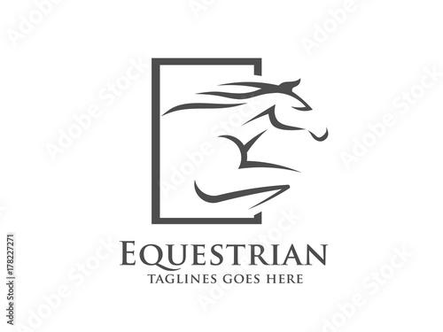 Fotomural Horse racing logo template
