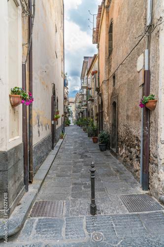 Fényképezés  Sicilian lane Randazzo, Italy