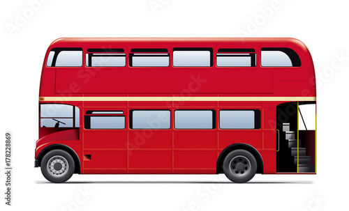 London City Bus Wallpaper Mural