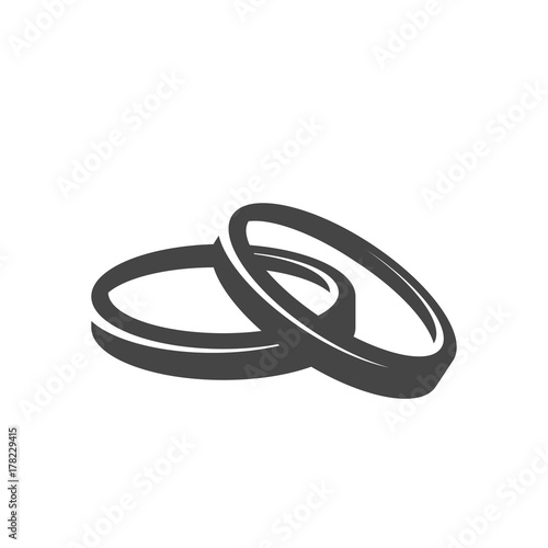 wedding rings icon vector logo on white background buy this stock vector and explore similar vectors at adobe stock adobe stock wedding rings icon vector logo on