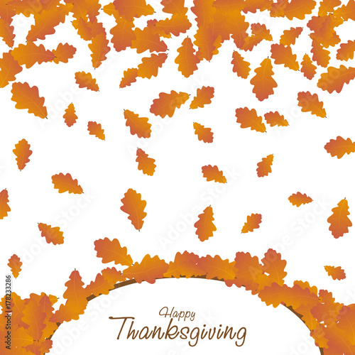 Happy Thanksgiving day background Poster