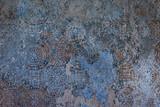 Szczegóły tradycyjnych antycznych płytek do fasady starego domu w Portugalii lub we Włoszech. Tło ornament - 178233837