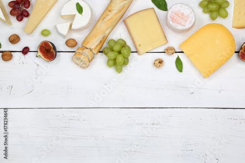 Plakat Serowy Talerz Szwajcarski Serowy Talerz Chlebowy Camembert Odbitkowy Astronautyczny Copyspace Od Above