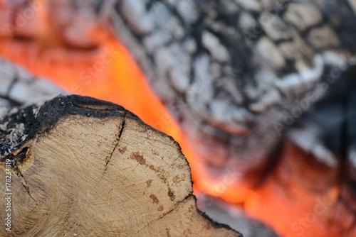 Zdjęcie XXL Płomień spalania ognia z bliska jako tło