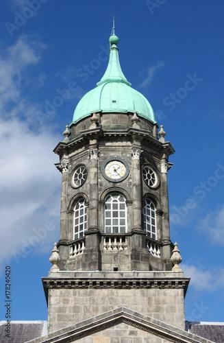 Photo  Clock tower of the Dublin castle, Ireland