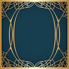 Panel Szklany Art Deco Vector art nouveau frame.
