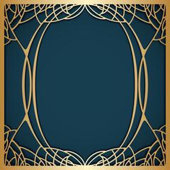 Naklejka Vector art nouveau frame.
