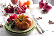 Thanksgiving Dinner Table Sett...