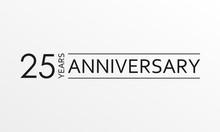 25 Years Anniversary Icon. Ann...