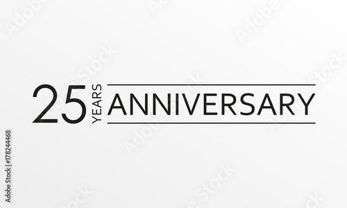 Fotografia  25 years anniversary icon