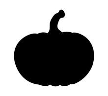 Pumpkin Silhouette Vector  Des...