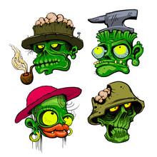 Zombie Heads Illustration