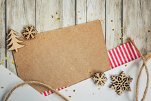 Christmas Card With Elements O...