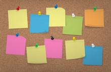 Adhesive Notes With Push Pins ...