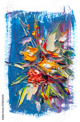 Canvas Prints Bird-of-paradise flower Oil painting flowers