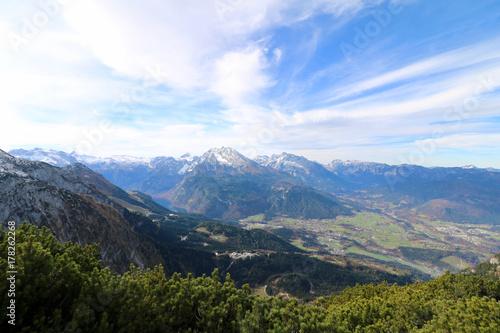 Fototapeta Panorama Berchtesgadener Land mit Watzmann obraz na płótnie