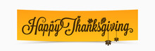 Thanksgiving Lettering Banner Design Background