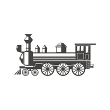 Train Logo Vector Vintage