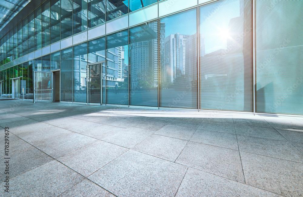 Fototapety, obrazy: Modern office building outdoor and empty pavement , Kuala Lumpur , Malaysia .