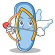 Cupid flip flops character cartoon
