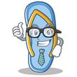 Businessman flip flops character cartoon