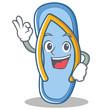 Okay flip flops character cartoon
