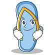 Smirking flip flops character cartoon