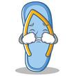 Crying flip flops character cartoon