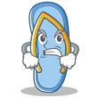 Angry flip flops character cartoon