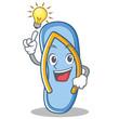 Have an idea flip flops character cartoon