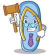 Judge flip flops character cartoon