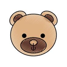 Cute Teddy Bear Head Toy Chilh...
