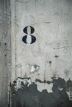 Number Eight On A Wall