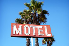 Aged And Worn Neon Motel Sign ...