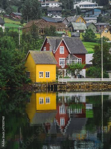 City on the water Nordheimsund Village Norway