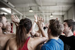 canvas print picture - Successful People Giving High Five To Each Other In Gymnasium