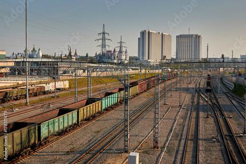 Fototapeta railway hub obraz na płótnie
