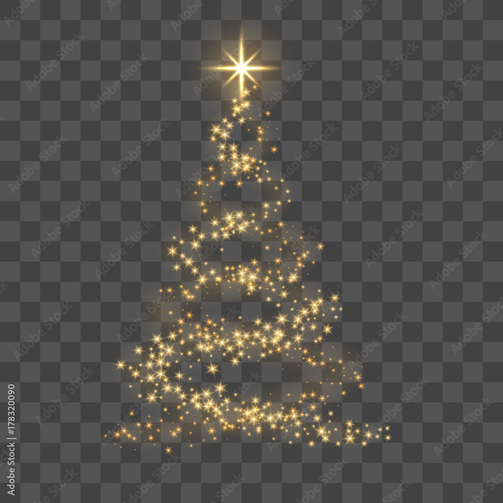 Photo Art Print Christmas Tree On Transparent Background Europosters